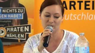 Piratenpartei Pressekonferenz zum Thema Fanrechte vom 9. Aug. 2013