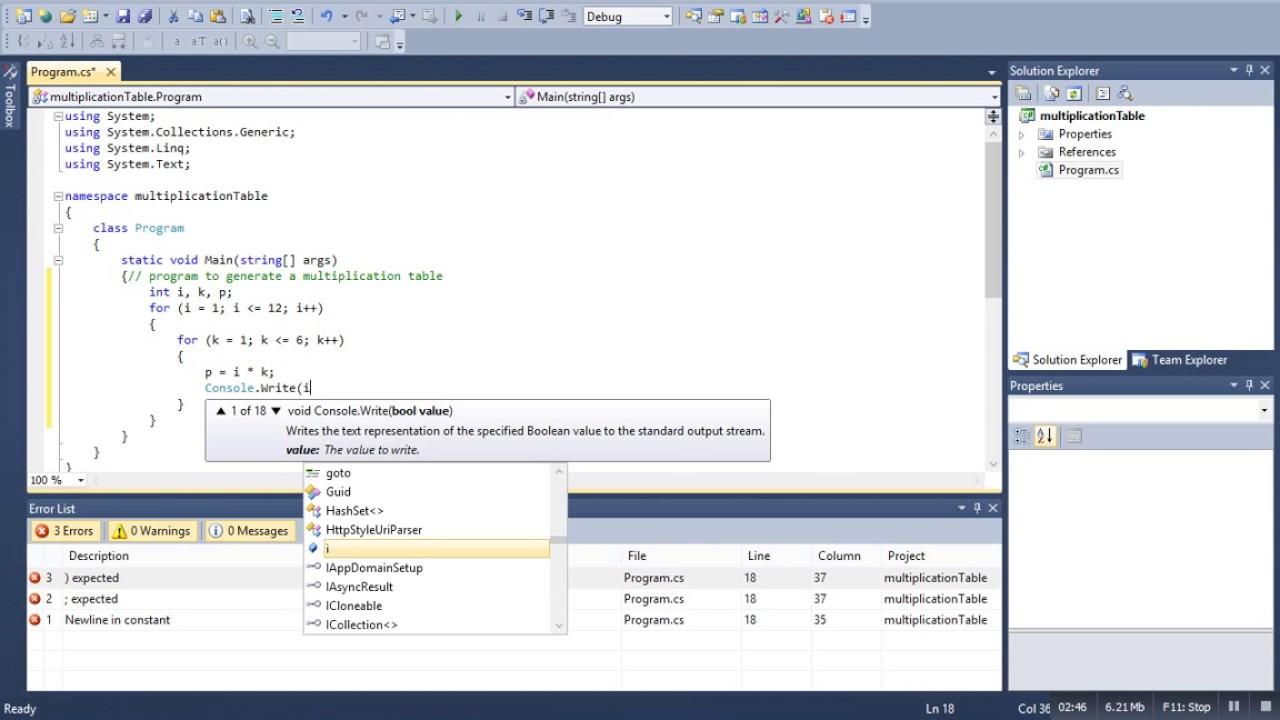 Multiplication table program in c youtube multiplication table program in c gamestrikefo Image collections