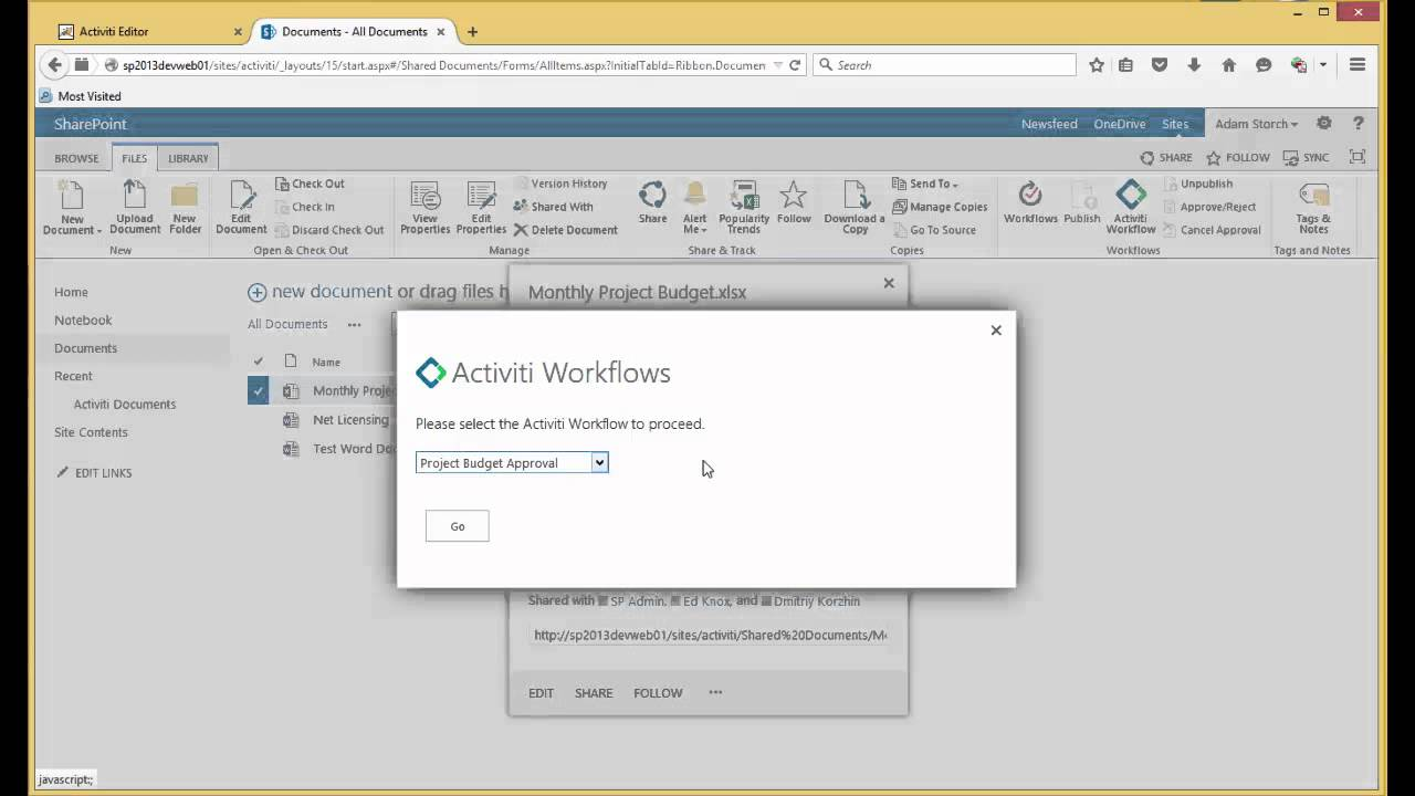 SHAREPOINT WORKFLOW WITH ACTIVITI | Micro Strategies Inc