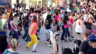 lmfao every day im shuffling oki flash mob 11 6 11