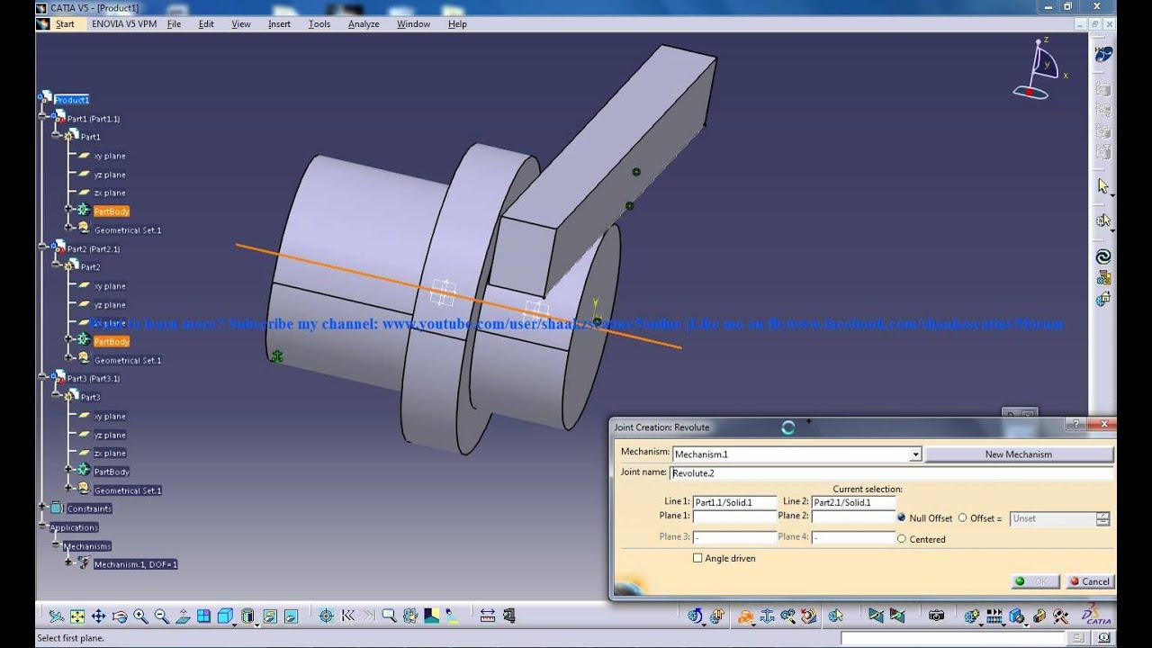 Catia V5 Tutorials Rack Pinion Mechanism Simulation P5 Digital Mockup Dmu Kinematics