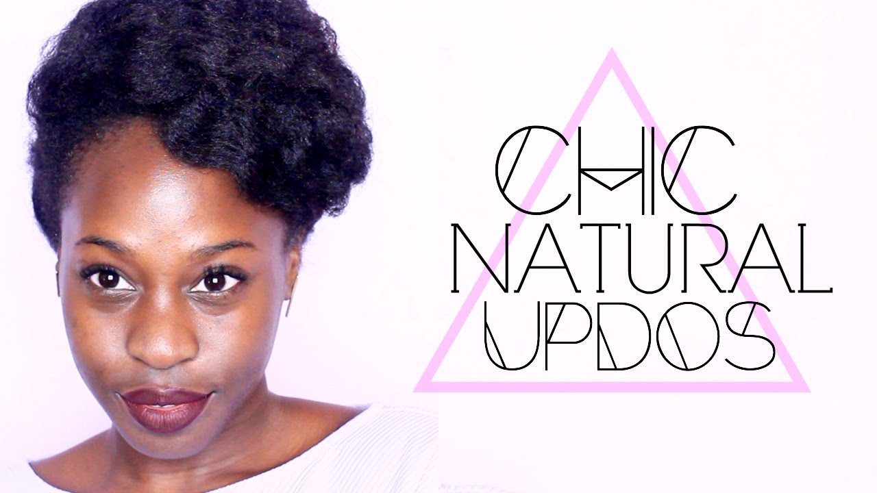 Chic Updos for Natural Hair | Holidays, Weddings, Protective styles ...