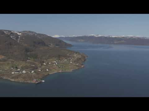 Sørreisa, Finnsnes, Gisundbrua, Senja - Flying Over Norway
