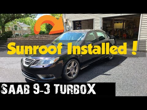 How to replace the Sunroof Assembly on a 2003-2011 Saab 9-3 Sedan