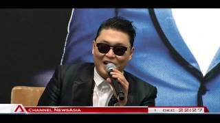 4,000 fans did the Gangnam Style with PSY at Marina Bay Sands Singapore - 01Dec2012