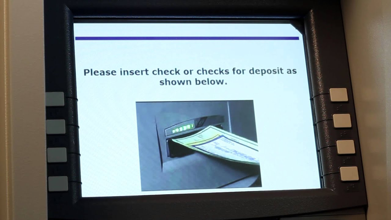 Endorsing A Check And Deposit Slip Citizens Bank Of Edmond: Atm Deposit  [member Fdic
