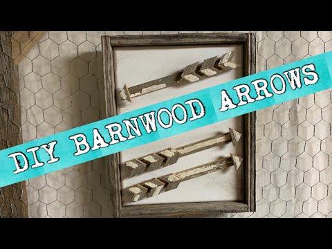 How-To Make Decorative Barn Wood Arrows— Handymom Vlog