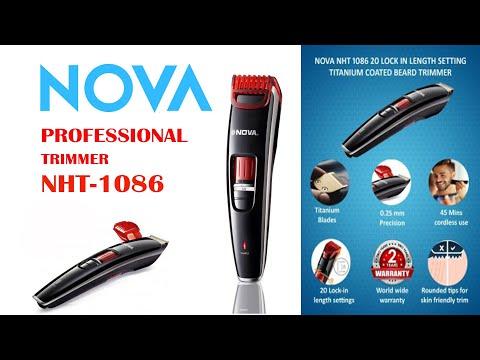 NOVA Pro Trimmer NHT-1086 Unboxing & Review -Mr. KG
