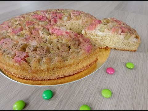 gâteau-renversé-à-la-rhubarbe