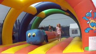 Bouncy rainbow at HALIOTIS Camping site