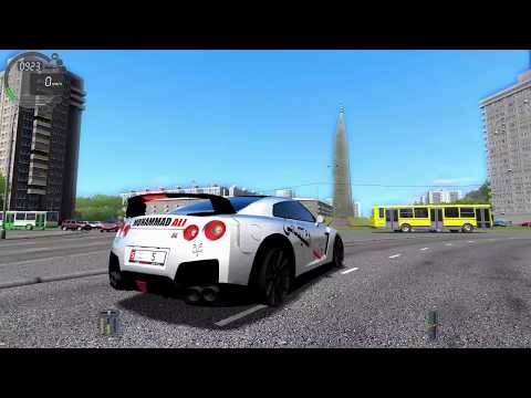 ГОНКИ ПО ГОРОДУ НА  NISSAN GT-R В City Car Driving + ИГРАЕМ НА РУЛЕ!!!