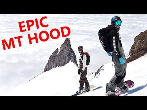 EPIC MT HOOD HIKE & SNOWBOARDING