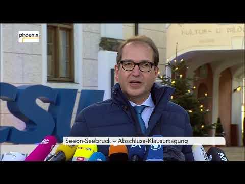Alexander Dobrint zum Abschluss der CSU-Klausurtagung in Seeon am 06.01.18