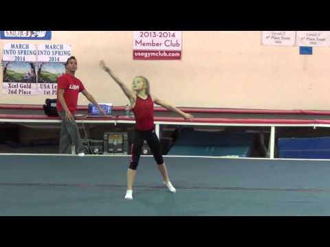 Whitney's New Floor Routine Choreography with Dominic Zito