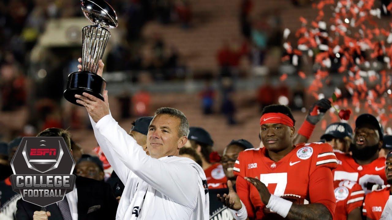 urban meyer ends coaching career in 2019 rose bowl win vs washington college football highlights
