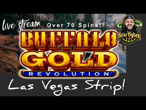 LIVE! Buffalo Gold Revolution Las Vegas Strip Slots! Cosmopolitan Casino