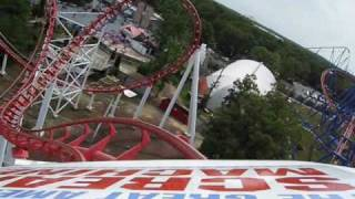 Great American Scream Machine Front Seat on-ride POV Six Flags Great Adventure