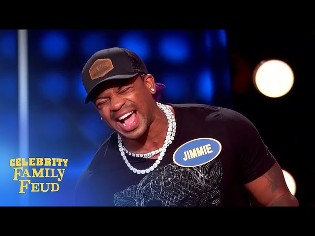 Gross answer triggers Jimmie Allen to walks off the Celebrity Family Feud set!