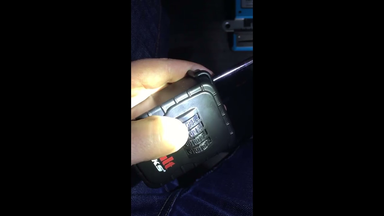 How to open lost combination key box with flashlight