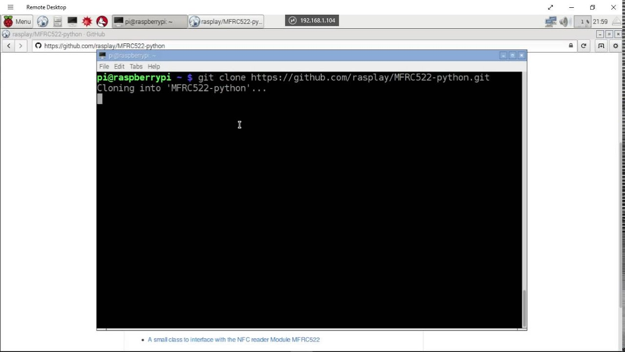 Raspberry Pi 2 + MFRC522-python 3 - download MFRC522-python