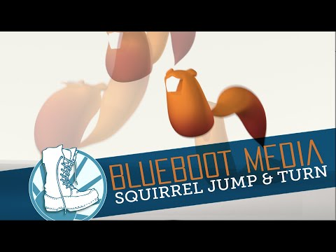 3D Animation Test, Squirrel Jumping and Turning, Maya 2018