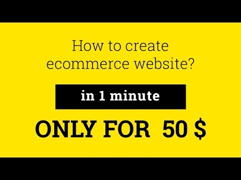 Solomono - How to create an Ecommerce website (online store) for $50!
