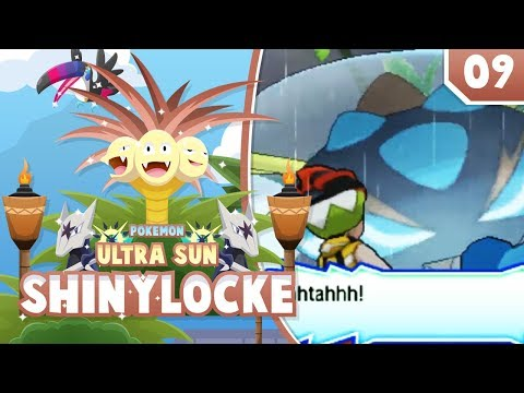 GIANT SPIDER AHHHHH! Pokemon Ultra Sun and Moon ShinyLocke Let's Play w/ aDrive! Ep 9