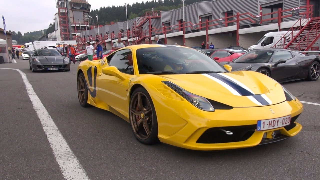 2015 Ferrari 458 Speciale >> Giallo Modena Ferrari 458 Speciale - Acceleration Sounds! - YouTube