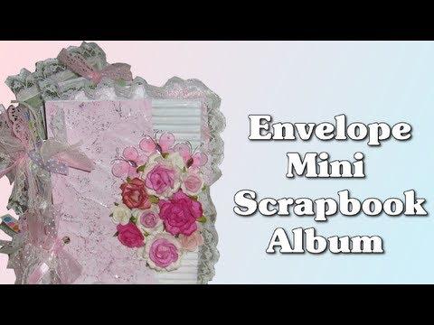 Envelope Mini Scrapbook Album Fancy Flora Prima Marketing Paper