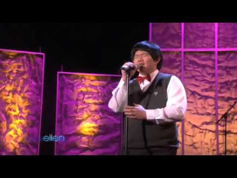 Taiwanese Boy Lin Yu Chun's Another Performance in Ellen -- Amazing Grace