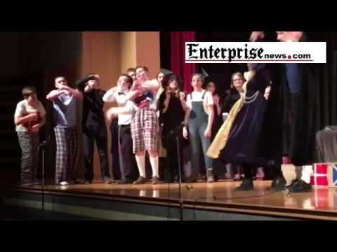 Cast of Raynham Middle School play takes a bow