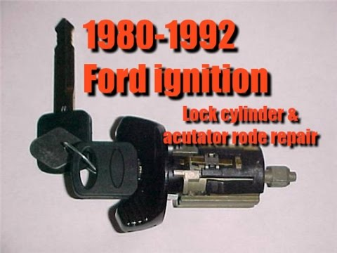 FORD 1980-1992 Ignition switch, lock cylinder, rack, pinion and