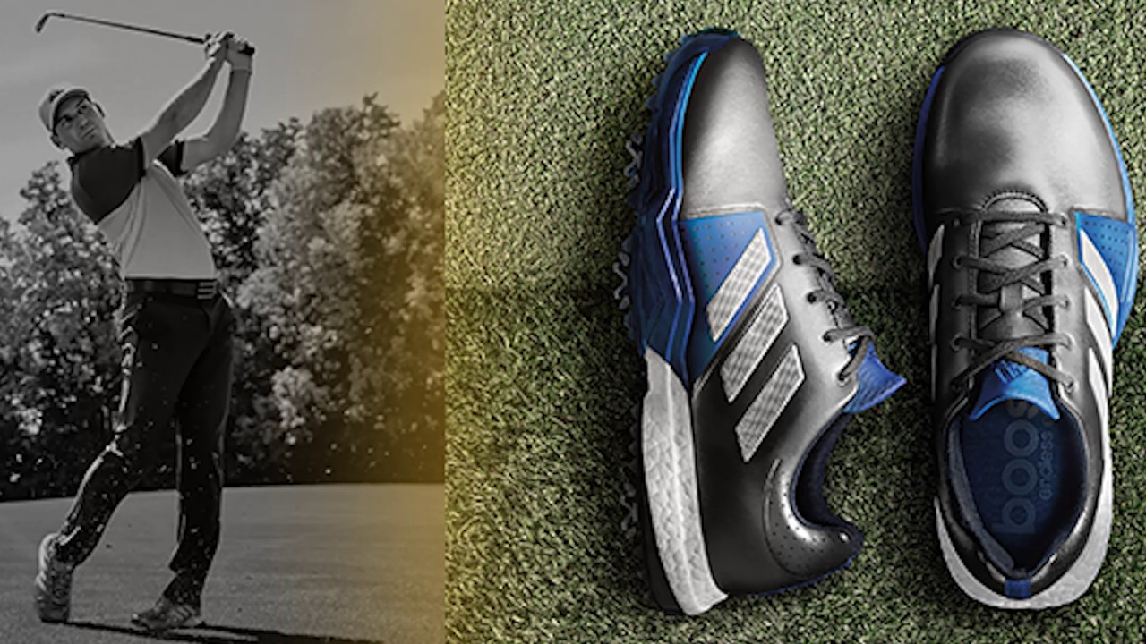 adidas Adipower Boost 3 Golf Shoes at the 2017 PGA Show - YouTube a1cbbbb60a4d