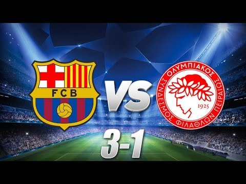 Barcelona vs Olympiacos [3-1], Champions League, Group Stage 2017