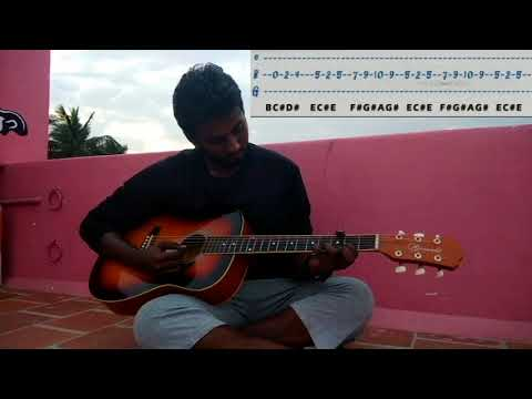 Cadbury dairy milk song Kiss me Close Your Eyes on Guitar with tabs and Music notes