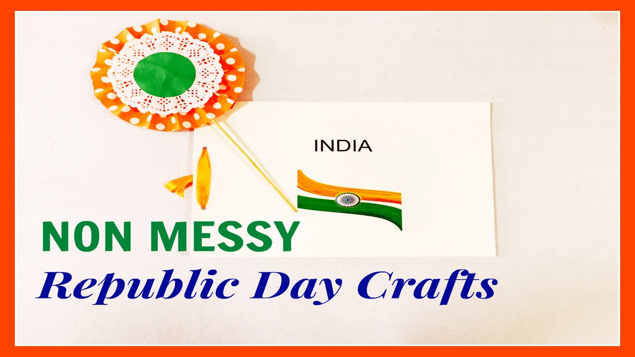Indian republic day  independence crafts also youtube rh