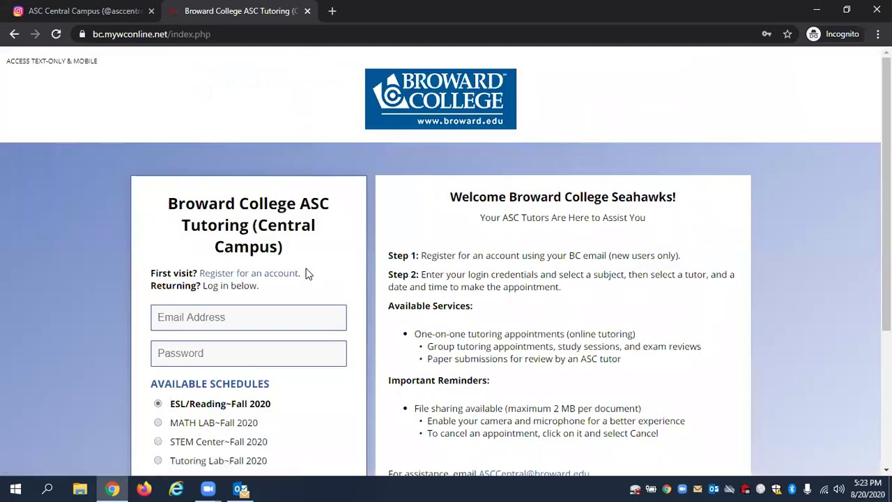 broward edu my bc login