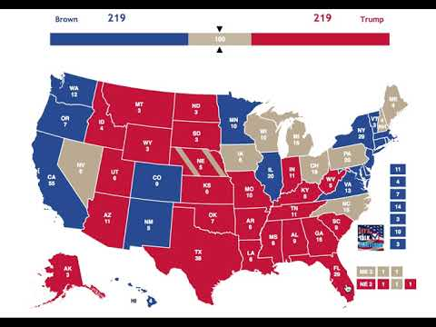 Sherrod Brown vs Donald Trump | 2020 Election Prediction
