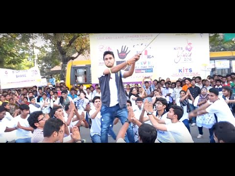 Guntur KITS YUVA 2k16 Flashmob(Choreographed by Subhash Babu)