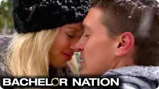 Dean Reassures Lesley With A Kiss   Bachelor Winter Games