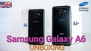 Samsung Galaxy A6 and Galaxy A6 Plus Unboxing and first Setup english
