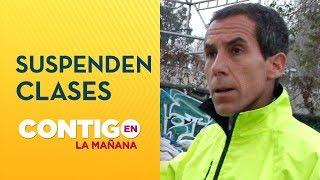 Comuna de Santiago suspendió clases en colegios municipales - Contigo en La Mañana