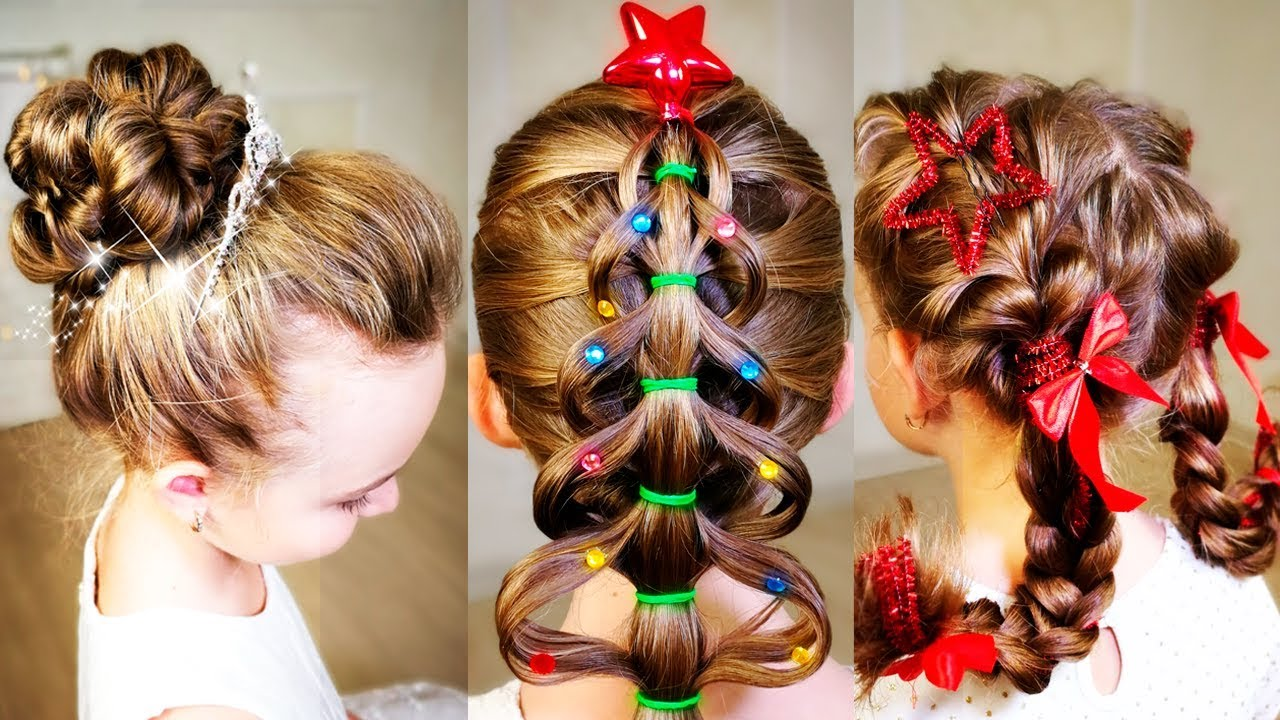 Christmas Hairstyles Easy.7 Easy Cute Christmas Hairstyles 7 Simple Holiday Hairstyles Tutorial Quick Hairstyles