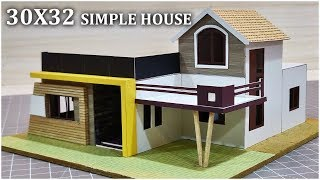 30x32 small residential building simple elevation