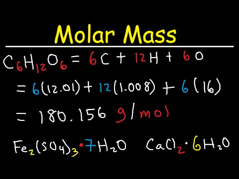 Molar Mass Calculations of a Compound - Chemistry - Formula Weight & Molecular Mass Problems