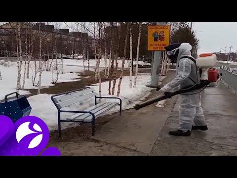 В Ханымее началась санитарная обработка улиц и общественных мест. Время Ямала