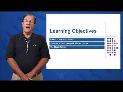Session 08: Objective 1 - Common Stock Valuation