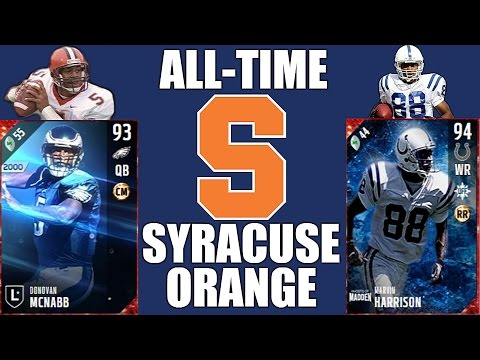 All-Time Syracuse Orange Team - Donovan McNabb and Marvin Harrison! - Madden 17 Ultimate Team