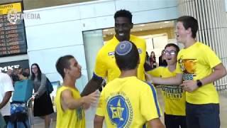 Johnny O'bryant landing in Israel