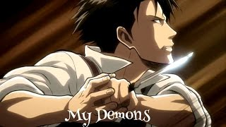 Repeat youtube video {Attack on Titan} Levi Ackerman - My Demons AMV